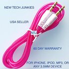3.5mm male stereo audio aux auxiliary cable for iPod 7 iPhone 4 5 6 plus car mp3