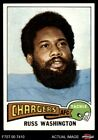 1975 Topps #335 Russ Washington Chargers Mizzou 8 - NM/MT $2.65 USD on eBay