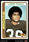 1978 Topps #184 Larry Poole Browns-FB Kent St 8 - NM/MT $2.95 USD on eBay