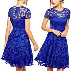 Hot Women Lace Short Dress Prom Evening Party Cocktail Bridesmaid Wedding US