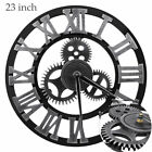 23 Extra Large Quartz Outdoor Wall Clock Modern Waterproof Gear Silent Hanging