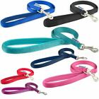 Ancol Dog Lead Nylon Padded Handle Soft Strong Black Red Blue Teal Pink
