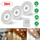 3/6X Wireless LED Puck Lights Closet Under Cabinet Lighting With Remote Control