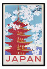 Japan Government Railways Blossom FRAMED CORK PIN BOARD With Pins | UK Seller