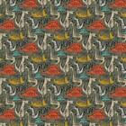 Soft Shell 3-LAYER Waterproof Fabric Material DINO - GREEN
