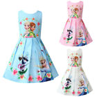 Kyпить Frozen Anna Elsa Printed Dress Girls Skater Kids Casual Birthday Party Dresses на еВаy.соm