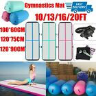 Inflatable Air Track Barrel Roller Home Gymnastics Tumbling Mat Yoga Pump US image