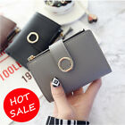 Women Small Wallet Leather Folding Coin ID/Credit Card Holder Money Purse Bag image