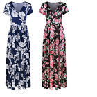 Women Sexy V Neck Boho Dress Floral Summer Beach Cocktail Party Maxi Long Dress