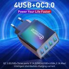 48W QC 3.0 Quick Charge 4 USB Ports Hub Wall Charger Power Adapter US EU UK Plug