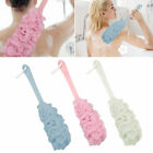 Shower Back Body Mesh Brush Long Handle Scrubber Bath Sponge Cleaning Massager