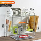1/2 Tier Stainless Steel Over Sink Dish Drying Rack Drainer Kitchen Storage Rack