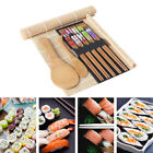 DIY Sushi Maker Set Bamboo Sushi Kit  Chopsticks 5 Mats Rolling 2 Included US 02
