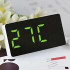 Digital LED Large Display Alarm Clock USB/Battery Operated Mirror Face Design UK