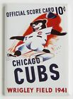 "Chicago Cubs Scorecard FRIDGE MAGNET baseball program ""style A"" on Ebay"