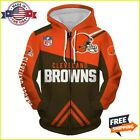 FREESHIP 3D HOODIE Cleveland Browns Zip Hoodies 3D Long Sleeve Made In USA $46.99 USD on eBay