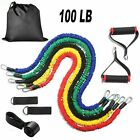 11 PCS Resistance Band Set Fitness Workout Gym Pilates Fitness Exercise Trainer image