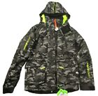 Superdry Men's Black Contrast Camo Ultimate Snow Rescue Hooded Jacket