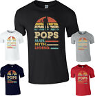 Happy Father's Day T-Shirt,Pops Man Myth Legend Vintage Sunset Love Gift Tee Top