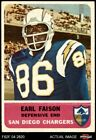 1962 Fleer #87 Earl Faison Chargers Indiana 2 - GOOD $8.25 USD on eBay