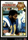 1979 Topps #152 Fred Dean Chargers LA Tech 7 - NM $2.45 USD on eBay