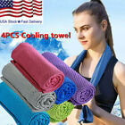 4x Instant Cooling Towels Ice Cold Running Jogging Gym Yoga Outdoor Chilly Towel image