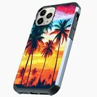 Hybrid Slim Case for iPhone 11/Pro/Max/10/X/XR/8/7/6 Cover- WATERCOLOR PALM TREE