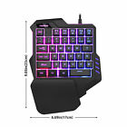 Rainbow LED Gaming Keyboard Mouse Set/35 Keys Keyboard/Gaming Mouse fr Laptop PC