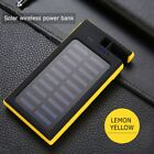 20000mAh Portable Waterproof USB Solar Power Bank Fast Qi Wireless Charger Pads