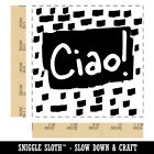 Ciao Hello Italian Doodle Square Rubber Stamp for Stamping Crafting