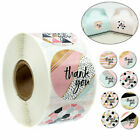 500Pcs/Roll Thank you Stickers Wedding Flower Baking Handmade Adhesive Labels.