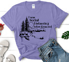 Camping T Shirt Happy Camper  I Was Social Distancing Before It Was Cool  Funny