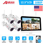 """ANRAN 8CH 12"""" Monitor 1080P Wireless Security Camera System Outdoor 1TB HDD CCTV"""