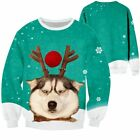 Mens Womens Carnival UGLY Sweater Funny Dog Sweatshirt Jumper Pullover Winter