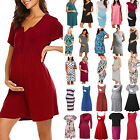 Pregnant Women Maternity Dress Summer Casual Nursing Breastfeeding Daily Dresses