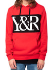 YOUNG AND RECKLESS YR LOGO HOODIE SWEATSHIRT MENS FLEECE SKATEWEAR RED