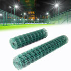 Green Metal Wire Mesh PVC Coated Chicken Fencing Rabbit Aviary Fence 10/20m Roll