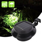 Led Solar Garden Yard Powered Lamp Outdoor Gutter Fence Light Clip-on Roof Wall⭐