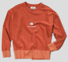 Nigel Cabourn Embroidered Globe Logo Crew Sweater Vintage Orange - Various Sizes