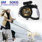 50KG 8M Large Dog Leads Leash Strong Retractable Extendable Lockables Tape UK