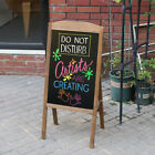 Folding Freestanding Chalkboard Market Menu Sign Blackboard Wedding Party 39x20""