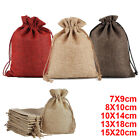 100 Small Burlap Jute Hessian Wedding Favour Jewellery Bags Christmas Gift Bags