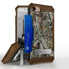 """Autumn Camo Shockproof Hybrid Case+Tempered Glass Cover for iPhone Model (4.7"""")"""