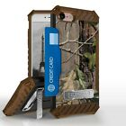 """Tree Camo Shockproof Hybrid Case+Tempered Glass Cover for iPhone Model (4.7"""")"""