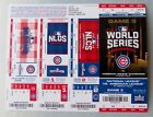CHICAGO CUBS Baseball - 2004 2007 2008 2015 2016 2017 WORLD SERIES TICKET SHEETS on Ebay