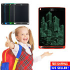 "8.5'' 12"" inch LCD Writing Drawing Tablet Pad eWriter Notepad Boogie Board Kids"
