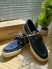 *NWB*Sperry Top Sider Mens Canvas Boat Navy Shoes Sz 11/12M
