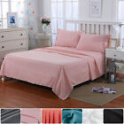 Bed Sheet Set Fitted Sheet Elastic Bottom Sheet Pillowcase Microfiber Queen Size image