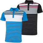 Bobby Jones Mens Rule 18 Tech Cove Stripe Tailored Golf Polo Shirt 59% OFF RRP