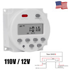 110V/12V Digital LCD Relay Switch Weekly Programmable Electronic Timer 1s-168H photo